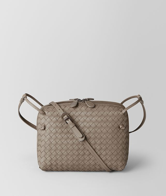 BOTTEGA VENETA LIMESTONE INTRECCIATO NAPPA MESSENGER Crossbody bag [*** pickupInStoreShipping_info ***] fp
