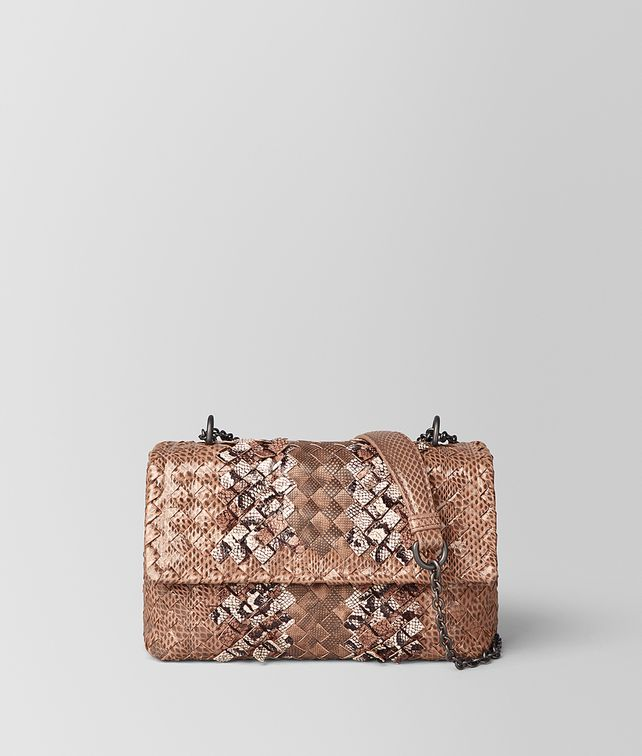 BOTTEGA VENETA DAHLIA INTRECCIATO SNAKE CLUB BABY OLIMPIA BAG Shoulder Bag [*** pickupInStoreShipping_info ***] fp