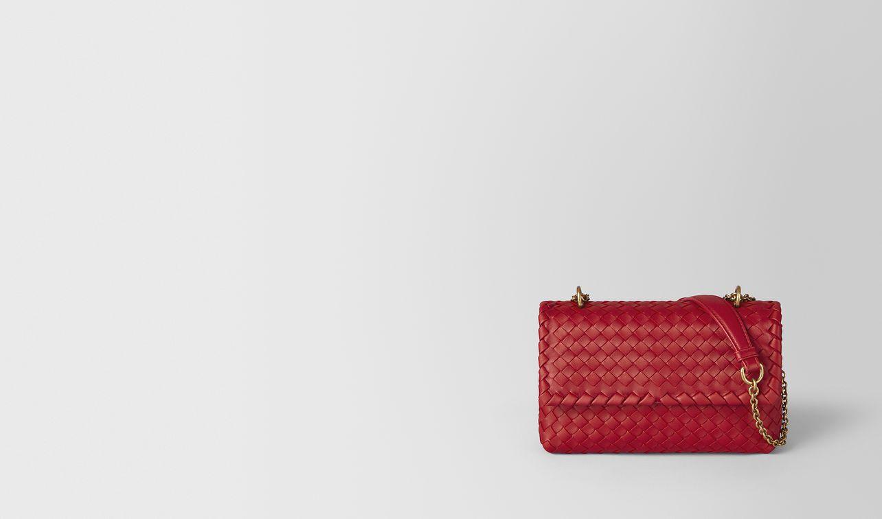 china red intrecciato nappa baby olimpia bag landing
