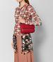 BOTTEGA VENETA BORSA BABY OLIMPIA IN INTRECCIATO NAPPA CHINA RED Shoulder Bag Donna ap