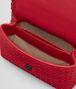 BOTTEGA VENETA BORSA BABY OLIMPIA IN INTRECCIATO NAPPA CHINA RED Shoulder Bag Donna dp