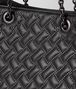BOTTEGA VENETA SHOPPER MICRO BORCHIE IN NAPPA NERO Borsa Shopping Donna ep