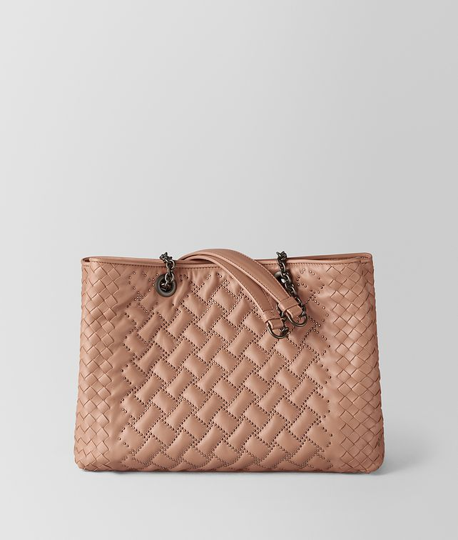 BOTTEGA VENETA SHOPPER MICRO BORCHIE IN NAPPA DAHLIA Borsa Shopping Donna fp