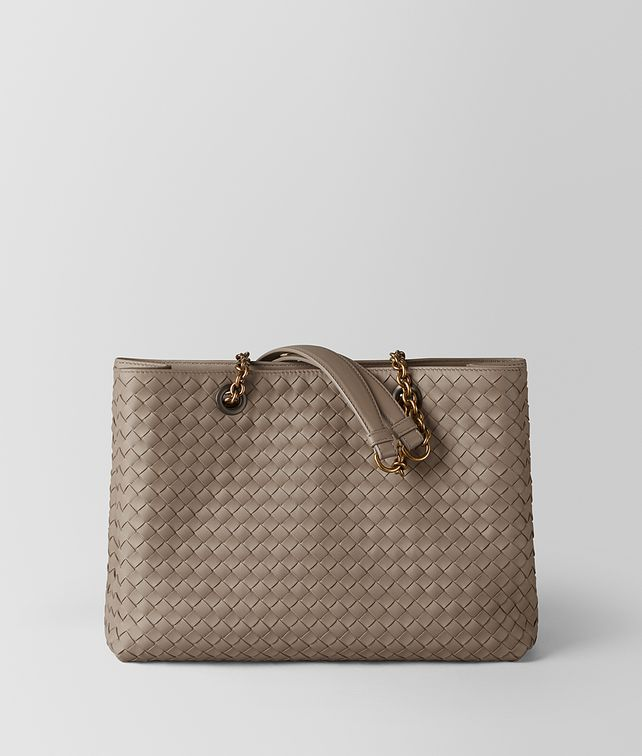 BOTTEGA VENETA LIMESTONE INTRECCIATO NAPPA TOTE Top Handle Bag Woman fp