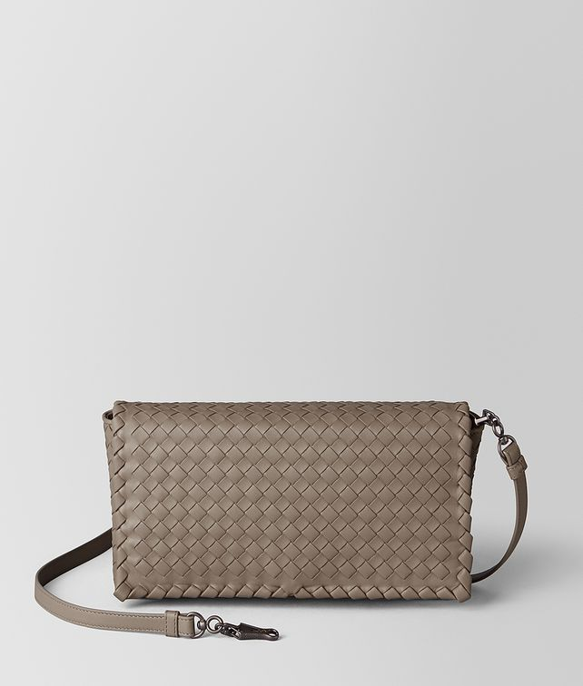 BOTTEGA VENETA LIMESTONE INTRECCIATO NAPPA CLUTCH Crossbody bag Woman fp