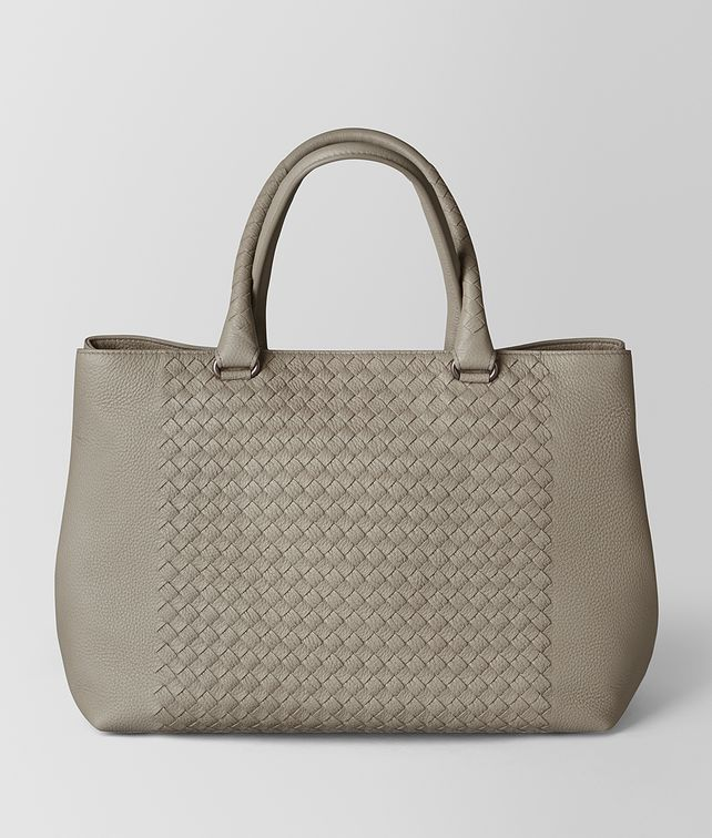 BOTTEGA VENETA DARK CEMENT INTRECCIATO CERVO TOTE Tote Bag [*** pickupInStoreShippingNotGuaranteed_info ***] fp
