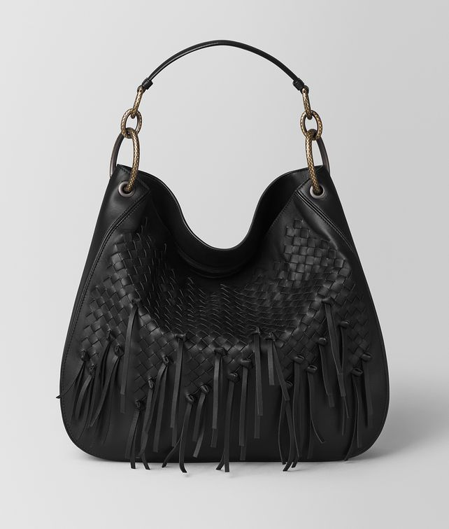 BOTTEGA VENETA NERO INTRECCIATO BRIO LOOP BAG Hobo Bag [*** pickupInStoreShipping_info ***] fp