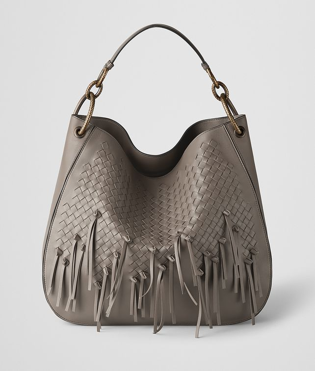BOTTEGA VENETA STEEL INTRECCIATO BRIO LOOP BAG Hobo Bag [*** pickupInStoreShipping_info ***] fp