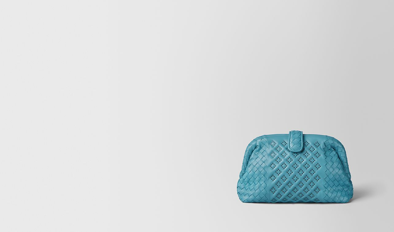 pochette the lauren 1980 micro borchie in nappa aqua landing