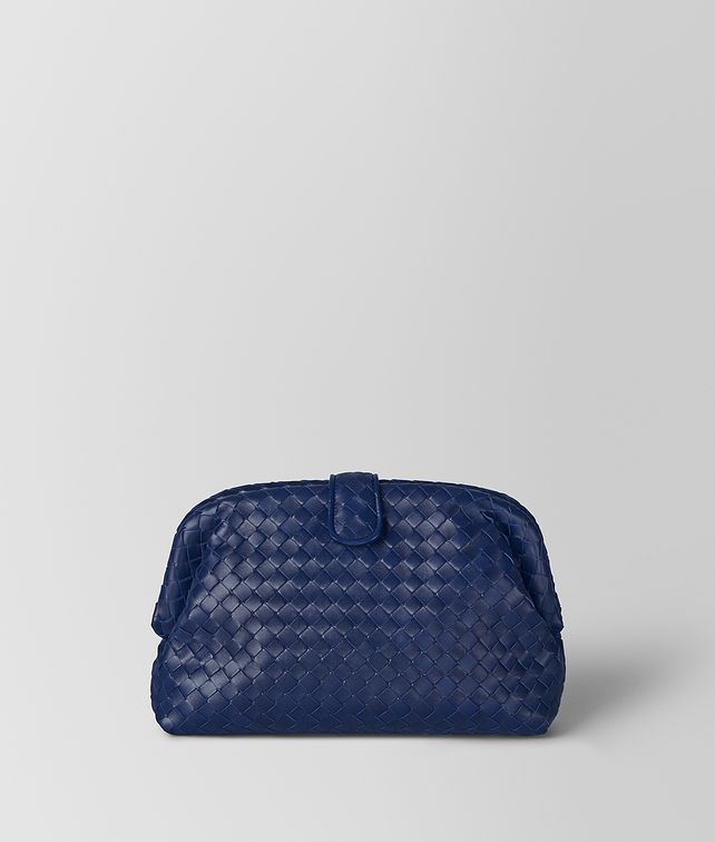 BOTTEGA VENETA POCHETTE THE LAUREN 1980 IN INTRECCIATO NAPPA ATLANTIC Pochette Donna fp