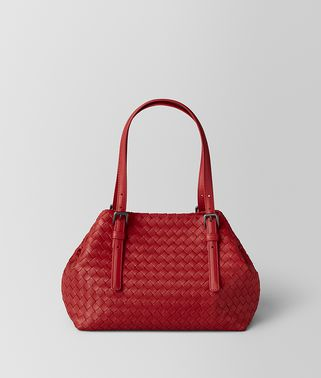CHINA RED INTRECCIATO NAPPA TOTE
