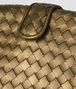 BOTTEGA VENETA DARK GOLD INTRECCIATO NAPPA THE LAUREN 1980 Clutch Woman ep