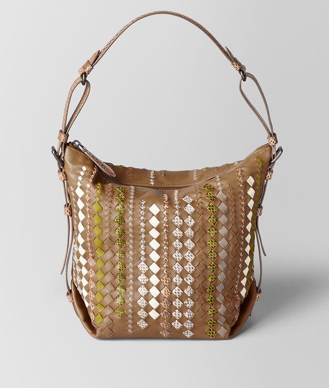 BOTTEGA VENETA CAMEL INTRECCIATO AYERS OSAKA BAG Shoulder Bag [*** pickupInStoreShipping_info ***] fp