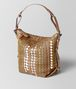 BOTTEGA VENETA CAMEL INTRECCIATO AYERS OSAKA BAG Shoulder Bag Woman rp