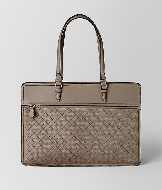 BOTTEGA VENETA LIMESTONE INTRECCIATO NAPPA TRIBUNA BAG Top Handle Bag [*** pickupInStoreShipping_info ***] fp