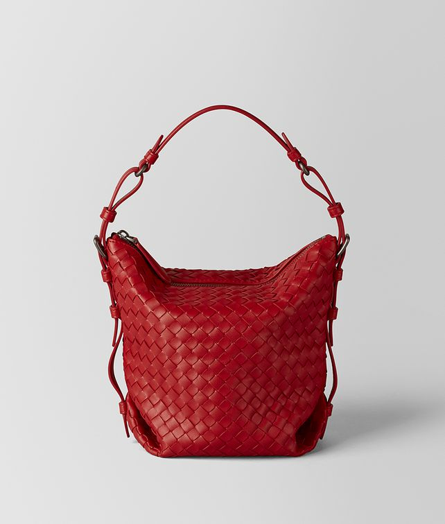 BOTTEGA VENETA CHINA RED INTRECCIATO NAPPA OSAKA BAG Shoulder Bag [*** pickupInStoreShipping_info ***] fp