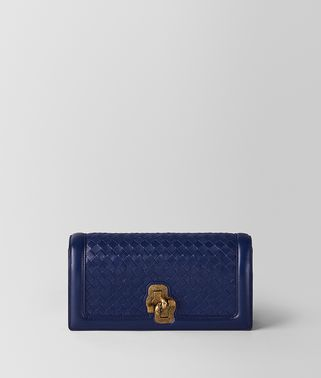 KNOT CLUTCH IN INTRECCIATO NAPPA ATLANTIC