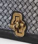 BOTTEGA VENETA ANTIQUE SILVER INTRECCIATO KNITTED KNOT CLUTCH Clutch Woman ep