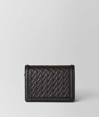 BORSA MINI MONTEBELLO MICRO BORCHIE IN NAPPA NERO