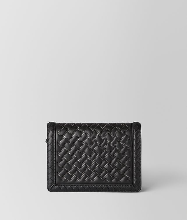 BOTTEGA VENETA BORSA MINI MONTEBELLO MICRO BORCHIE IN NAPPA NERO Pochette [*** pickupInStoreShipping_info ***] fp