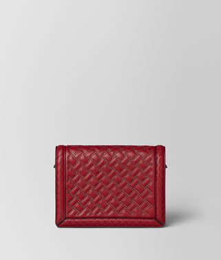 CHINA RED NAPPA MICROSTUDS MINI MONTEBELLO BAG