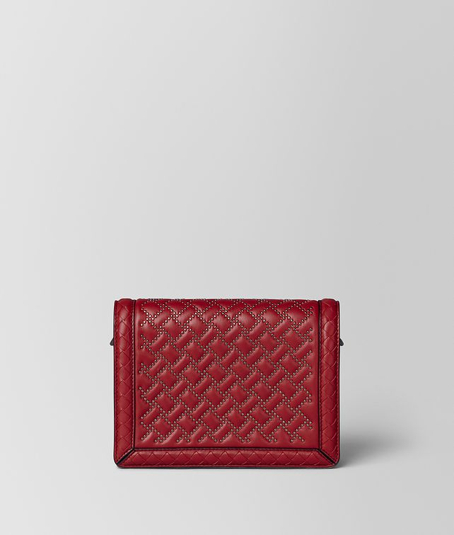 BOTTEGA VENETA BORSA MINI MONTEBELLO MICRO BORCHIE IN NAPPA CHINA RED Pochette Donna fp