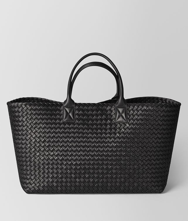 BOTTEGA VENETA NERO INTRECCIATO NAPPA CABAT Tote Bag [*** pickupInStoreShipping_info ***] fp
