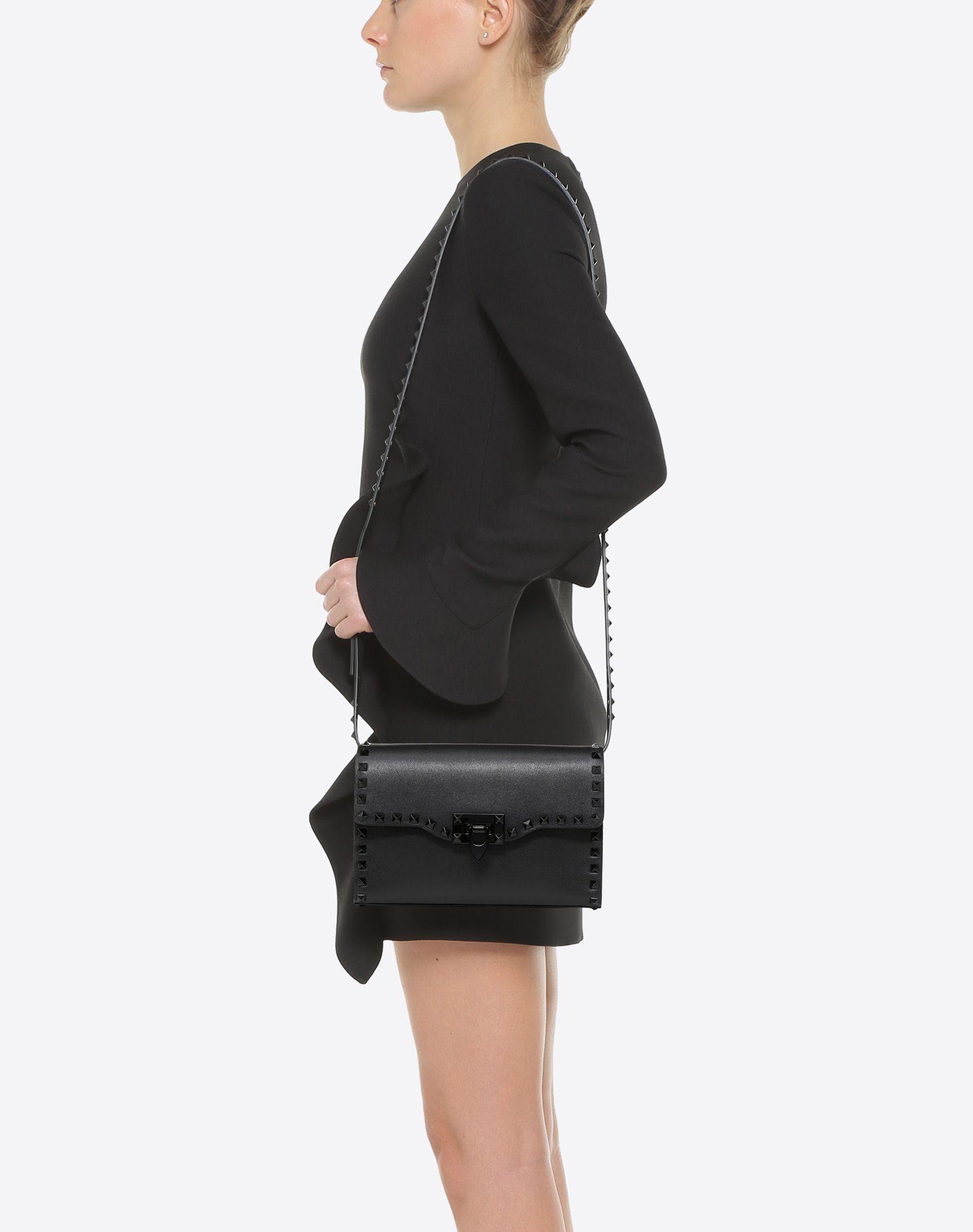 VALENTINO GARAVANI Small Rockstud Cross-body Bag CROSS BODY BAG D a