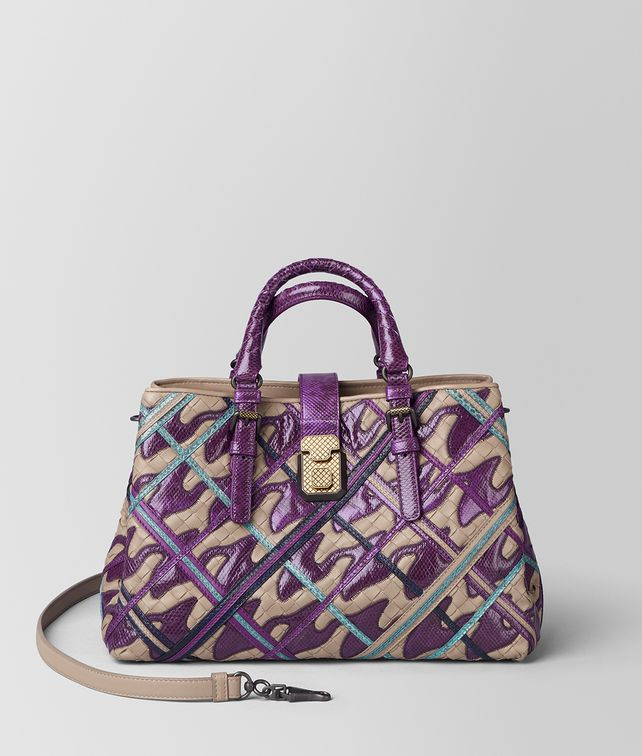 BOTTEGA VENETA MONALISA INTRECCIATO PIED DE POULE ROMA BAG Top Handle Bag [*** pickupInStoreShipping_info ***] fp