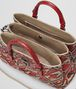 BOTTEGA VENETA CHINA RED INTRECCIATO PIED DE POULE ROMA BAG Top Handle Bag Woman dp