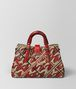 BOTTEGA VENETA CHINA RED INTRECCIATO PIED DE POULE ROMA BAG Top Handle Bag Woman lp