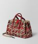 BOTTEGA VENETA CHINA RED INTRECCIATO PIED DE POULE ROMA BAG Top Handle Bag Woman rp