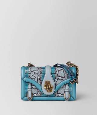 CITY KNOT TASCHE AUS KARUNGLEDER IN AQUA SHADOW