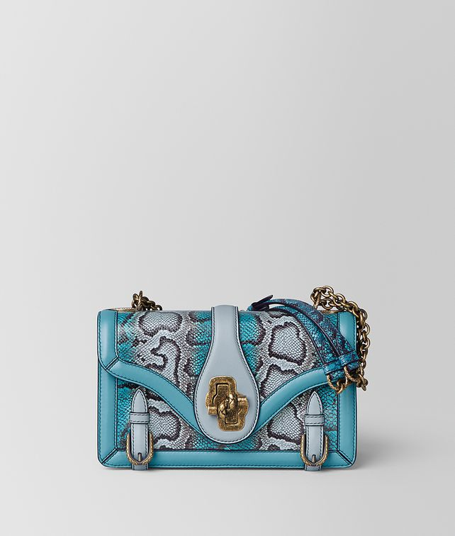 BOTTEGA VENETA AQUA SHADOW KARUNG CITY KNOT Shoulder Bag [*** pickupInStoreShipping_info ***] fp