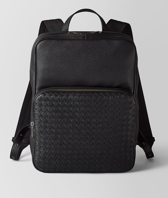 BOTTEGA VENETA NERO CERVO MEDIUM DOUBLE BRICK Backpack [*** pickupInStoreShippingNotGuaranteed_info ***] fp