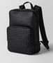 BOTTEGA VENETA NERO CERVO MEDIUM DOUBLE BRICK Backpack Man rp
