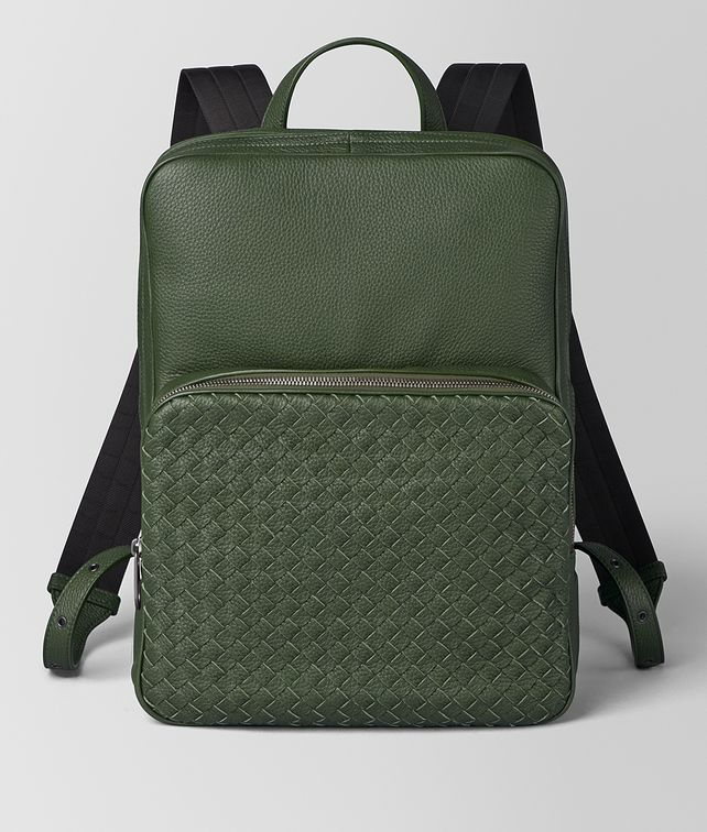 BOTTEGA VENETA FOREST CERVO MEDIUM DOUBLE BRICK Backpack [*** pickupInStoreShippingNotGuaranteed_info ***] fp