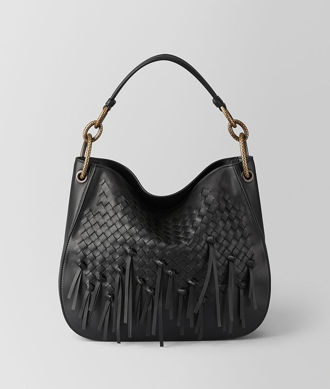 BOTTEGA VENETA NERO INTRECCIATO BRIO LOOP BAG Hobo Bag Woman fp