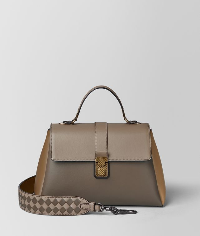 BOTTEGA VENETA STEEL MULTICOLOR NAPPA PIAZZA BAG Top Handle Bag [*** pickupInStoreShipping_info ***] fp