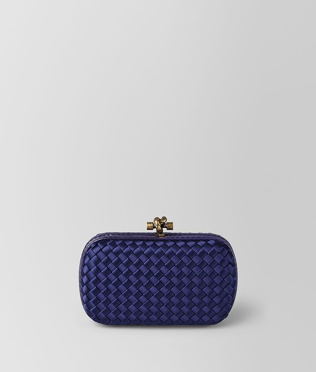 BOTTEGA VENETA BORSA CHAIN KNOT IN INTRECCIO IMPERO ATLANTIC Pochette Donna fp