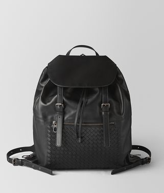 NERO INTRECCIATO CALF BACKPACK