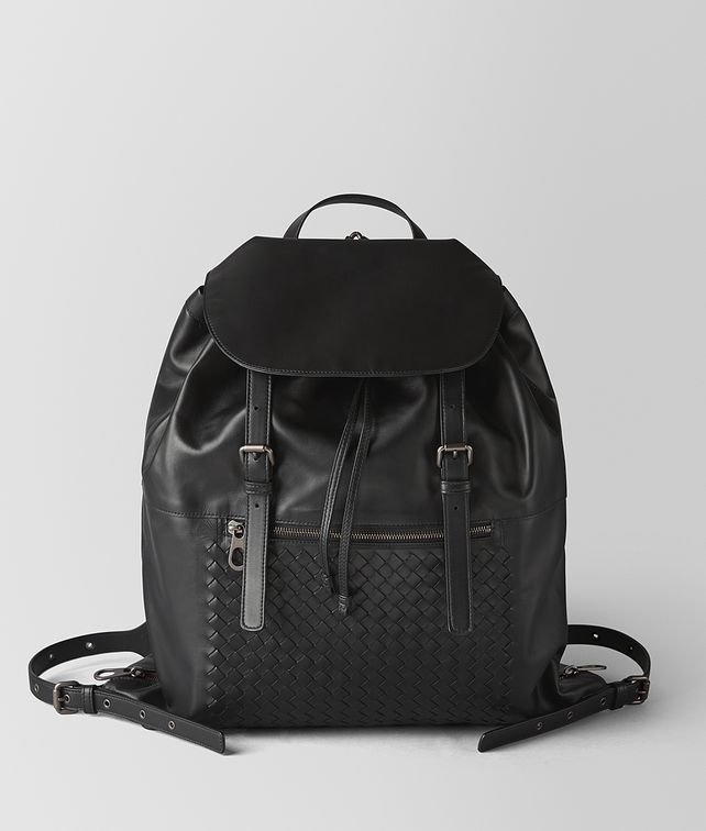 BOTTEGA VENETA NERO INTRECCIATO CALF BACKPACK Backpack Man fp