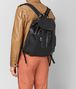 nero intrecciato calf backpack Front Detail Portrait