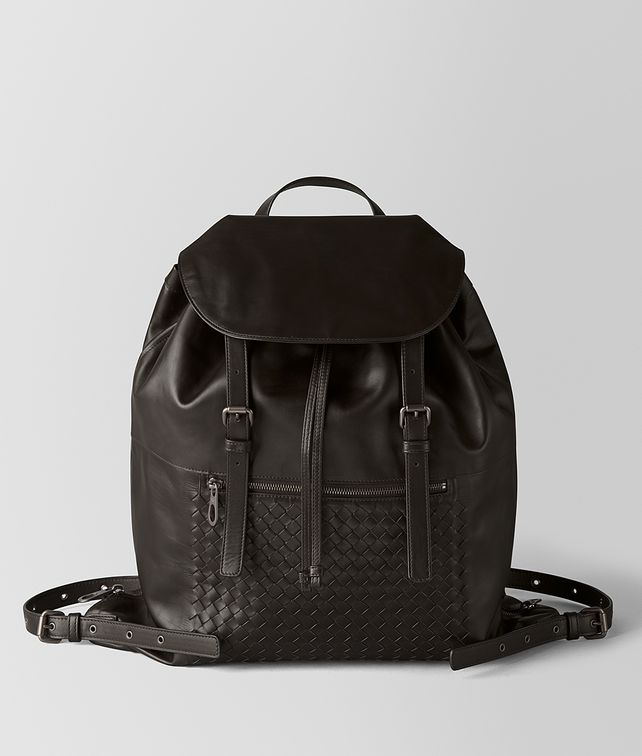 BOTTEGA VENETA MORO INTRECCIATO CALF BACKPACK Backpack Man fp