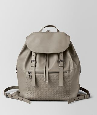 DARK CEMENT INTRECCIATO CALF BACKPACK