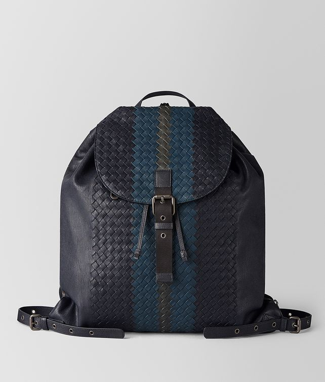 BOTTEGA VENETA MULTICOLOR INTRECCIATO CLUB LAMB BACKPACK Backpack Man fp
