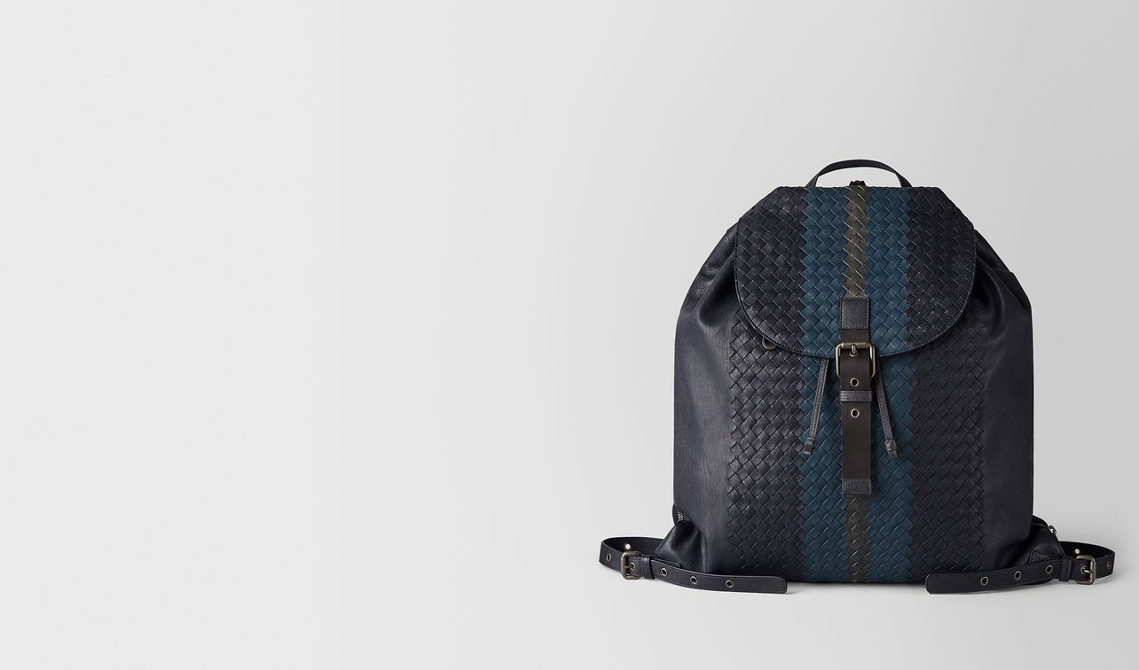 multicolor intrecciato club lamb backpack landing