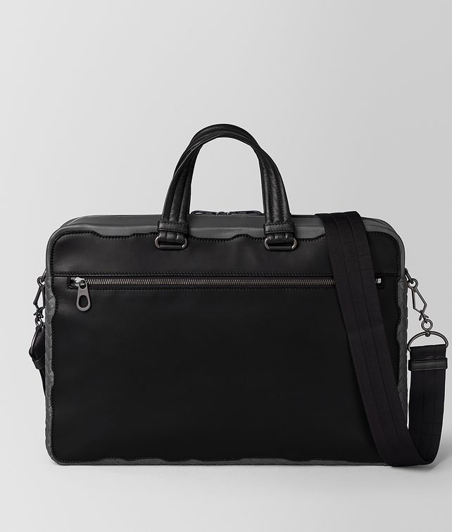 BOTTEGA VENETA NERO CALF/ARDOISE INTRECCIATO NAPPA BRIEFCASE Business bag Man fp