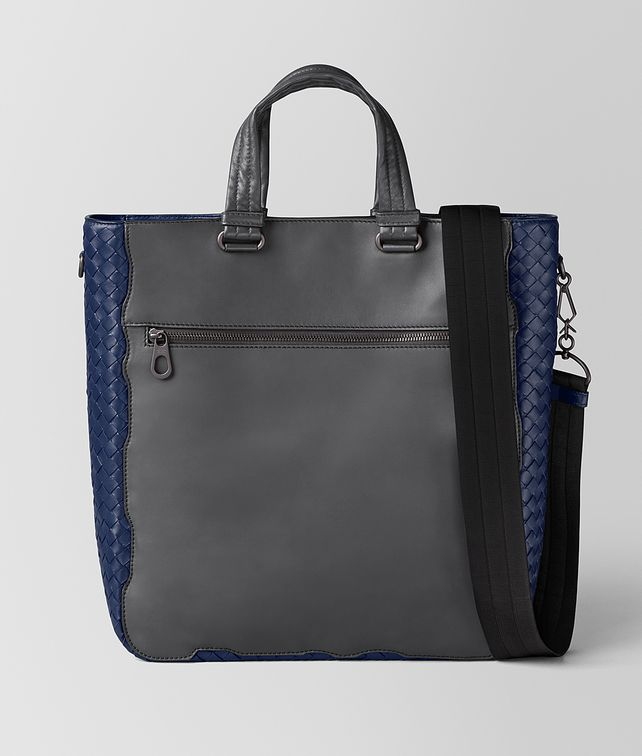 BOTTEGA VENETA ARDOISE CALF/ATLANTIC INTRECCIATO NAPPA TOTE Tote Bag Man fp
