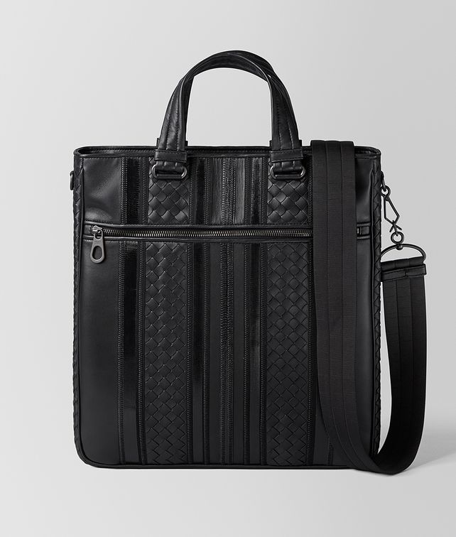 BOTTEGA VENETA NERO NAPPA TECH STRIPE TOTE Tote Bag [*** pickupInStoreShippingNotGuaranteed_info ***] fp